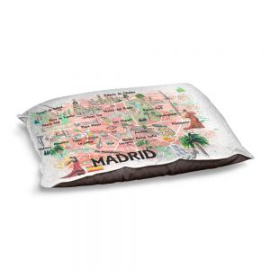 Decorative Dog Pet Beds   Markus Bleichner - Madrid Spain Map   Countries Cities Travel