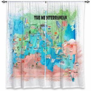 Decorative Window Treatments | Markus Bleichner - Mediterranean Tourist Map 2 | Countries Travel Ocean