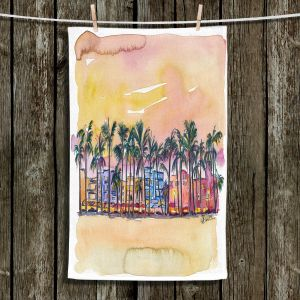 Unique Hanging Tea Towels | Markus Bleichner - Miami Ocean Drive