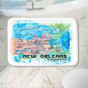 Decorative Bathroom Mats | Markus Bleichner - New Orleans Map | Cities Travel