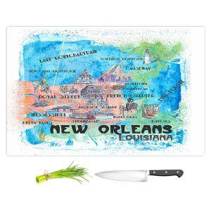 Artistic Kitchen Bar Cutting Boards | Markus Bleichner - New Orleans Map | Cities Travel
