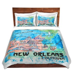 Artistic Duvet Covers and Shams Bedding | Markus Bleichner - New Orleans Map | Cities Travel