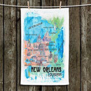 Unique Hanging Tea Towels | Markus Bleichner - New Orleans Map | Cities Travel