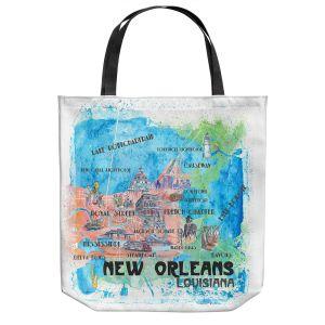 Unique Shoulder Bag Tote Bags | Markus Bleichner - New Orleans Map | Cities Travel