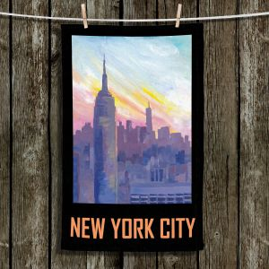 Unique Bathroom Towels | Markus Bleichner - New York City Retro Poster | Cities Travel