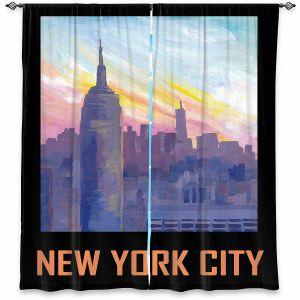 Decorative Window Treatments | Markus Bleichner - New York City Retro Poster | Cities Travel