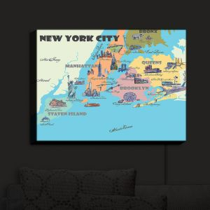 Nightlight Sconce Canvas Light | Markus Bleichner - New York Tourist 3 | map city simple
