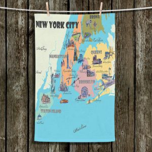 Unique Hanging Tea Towels | Markus Bleichner - New York Tourist 3 | map city simple