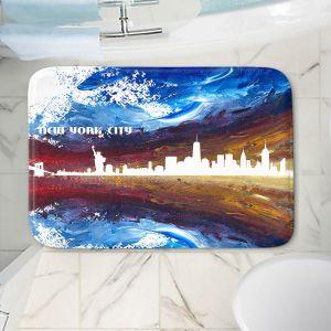 Decorative Bathroom Mats | Markus Bleichner - New York Scissor Blue | cityscape silhouette