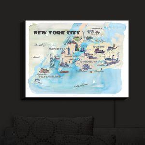 Nightlight Sconce Canvas Light | Markus Bleichner - New York Tourist 2 | map city simple