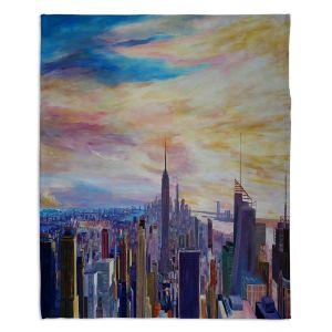 Artistic Sherpa Pile Blankets | Markus Bleichner - NYC Chrysler Empire