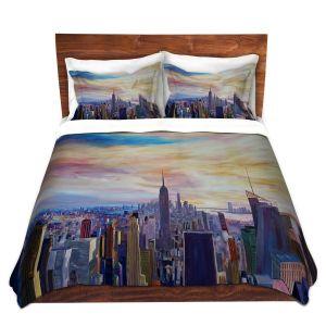 Artistic Duvet Covers and Shams Bedding | Markus Bleichner - NYC Chrysler Empire