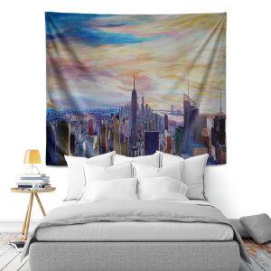 Artistic Wall Tapestry | Markus Bleichner - NYC Chrysler Empire