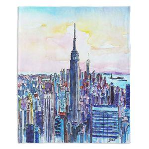 Artistic Sherpa Pile Blankets   Markus Bleichner - NYC Manhattan Skyline