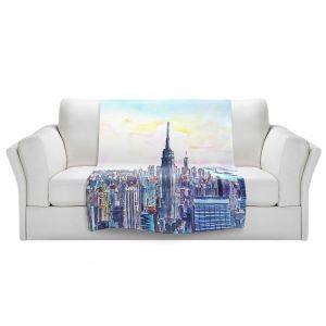 Artistic Sherpa Pile Blankets | Markus Bleichner - NYC Manhattan Skyline