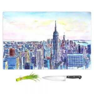 Artistic Kitchen Bar Cutting Boards | Markus Bleichner - NYC Manhattan Skyline