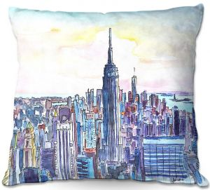 Throw Pillows Decorative Artistic | Markus Bleichner - NYC Manhattan Skyline