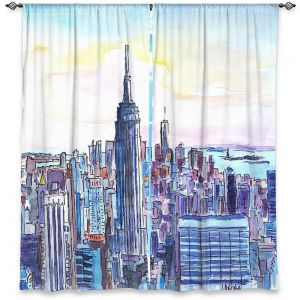 Decorative Window Treatments | Markus Bleichner - NYC Manhattan Skyline