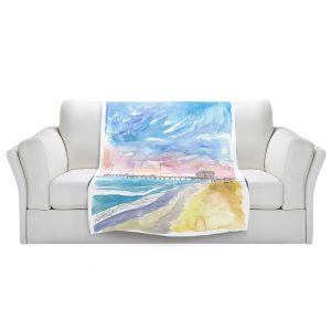 Artistic Sherpa Pile Blankets | Markus Bleichner - Outer Banks NC | Beach Ocean Landscape Trees