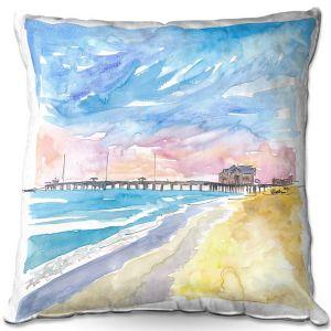 Decorative Outdoor Patio Pillow Cushion | Markus Bleichner - Outer Banks NC | Beach Ocean Landscape Trees