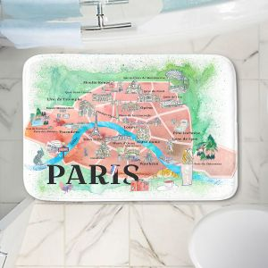 Decorative Bathroom Mats | Markus Bleichner - Paris Love Map 1 | Cities Maps Travel