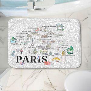 Decorative Bathroom Mats | Markus Bleichner - Paris Love Map 2 | Cities Maps Travel