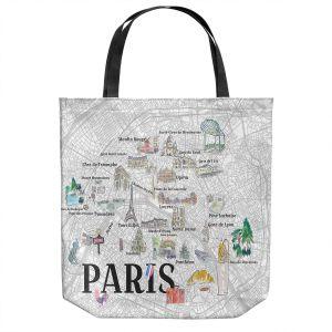 Unique Shoulder Bag Tote Bags   Markus Bleichner - Paris Love Map 2   Cities Maps Travel