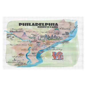 Decorative Floor Covering Mats | Markus Bleichner - Philadelphia Tourist 2 | map city simple