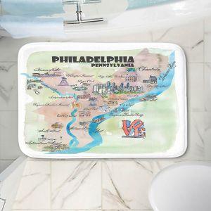 Decorative Bathroom Mats | Markus Bleichner - Philadelphia Tourist 2 | map city simple