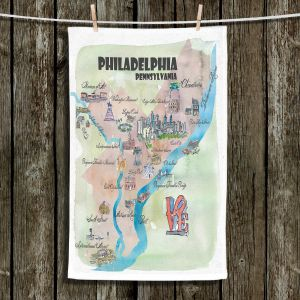 Unique Hanging Tea Towels | Markus Bleichner - Philadelphia Tourist 2 | map city simple