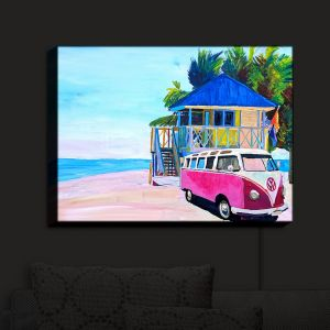 Nightlight Sconce Canvas Light | Markus Bleichner - Pink Surf Bus I