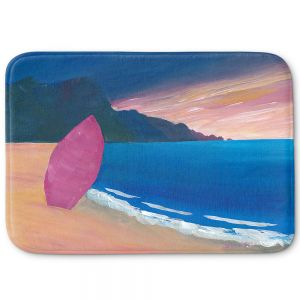 Decorative Bathroom Mats | Markus Bleichner - Pink Surfboard | beach coast ocean surfing