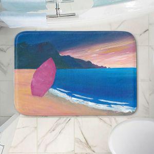 Decorative Bathroom Mats | Markus Bleichner - Pink Surfboard | beach coast ocean surfing