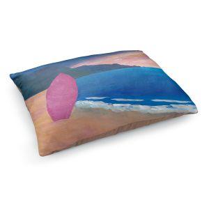 Decorative Dog Pet Beds | Markus Bleichner - Pink Surfboard | beach coast ocean surfing