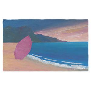 Artistic Pashmina Scarf | Markus Bleichner - Pink Surfboard | beach coast ocean surfing