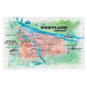 Decorative Floor Covering Mats | Markus Bleichner - Portland Oregon Map | Cities Maps Travel