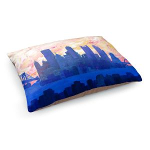 Decorative Dog Pet Beds | Markus Bleichner - Portland Skyline | cityscape silhouette oregon