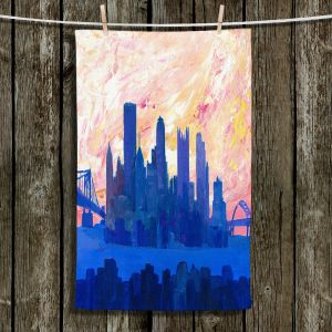 Unique Hanging Tea Towels | Markus Bleichner - Portland Skyline | cityscape silhouette oregon