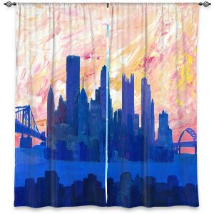 Decorative Window Treatments | Markus Bleichner - Portland Skyline | cityscape silhouette oregon