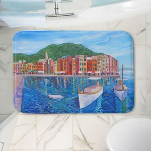 Decorative Bathroom Mats   Markus Bleichner - Portofino Harbor   Cities Countries Beach