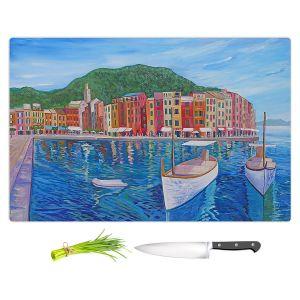 Artistic Kitchen Bar Cutting Boards | Markus Bleichner - Portofino Harbor | Cities Countries Beach