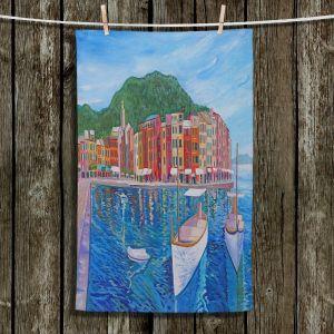 Unique Bathroom Towels | Markus Bleichner - Portofino Harbor | Cities Countries Beach