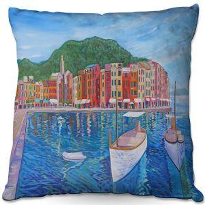Throw Pillows Decorative Artistic | Markus Bleichner - Portofino Harbor | Cities Countries Beach
