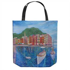 Unique Shoulder Bag Tote Bags   Markus Bleichner - Portofino Harbor   Cities Countries Beach