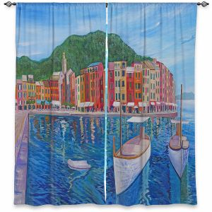 Decorative Window Treatments   Markus Bleichner - Portofino Harbor   Cities Countries Beach