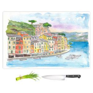 Artistic Kitchen Bar Cutting Boards | Markus Bleichner - Portofino 2 | Cities Countries Beach
