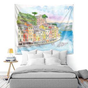 Artistic Wall Tapestry | Markus Bleichner - Portofino 2 | Cities Countries Beach