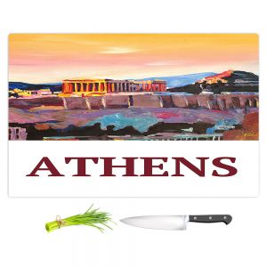 Artistic Kitchen Bar Cutting Boards | Markus Bleichner - Poster Athens | greece city town ancient building parthenon