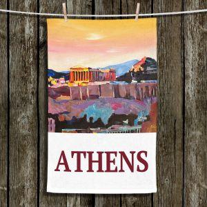 Unique Bathroom Towels   Markus Bleichner - Poster Athens   greece city town ancient building parthenon
