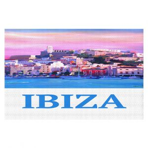 Decorative Floor Covering Mats | Markus Bleichner - Poster Ibiza | city town coast harbor